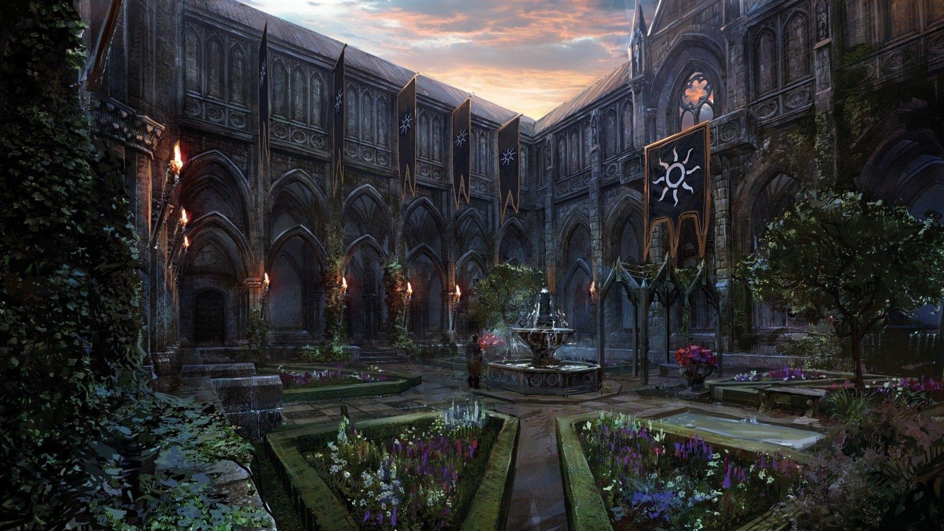 Resultado de imagen para Monastery Cloister  concept art