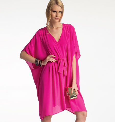 Misses' Dress by McCall's M6835. Definitely considering this one...first as a swimsuit cover up, maybe in a batik.