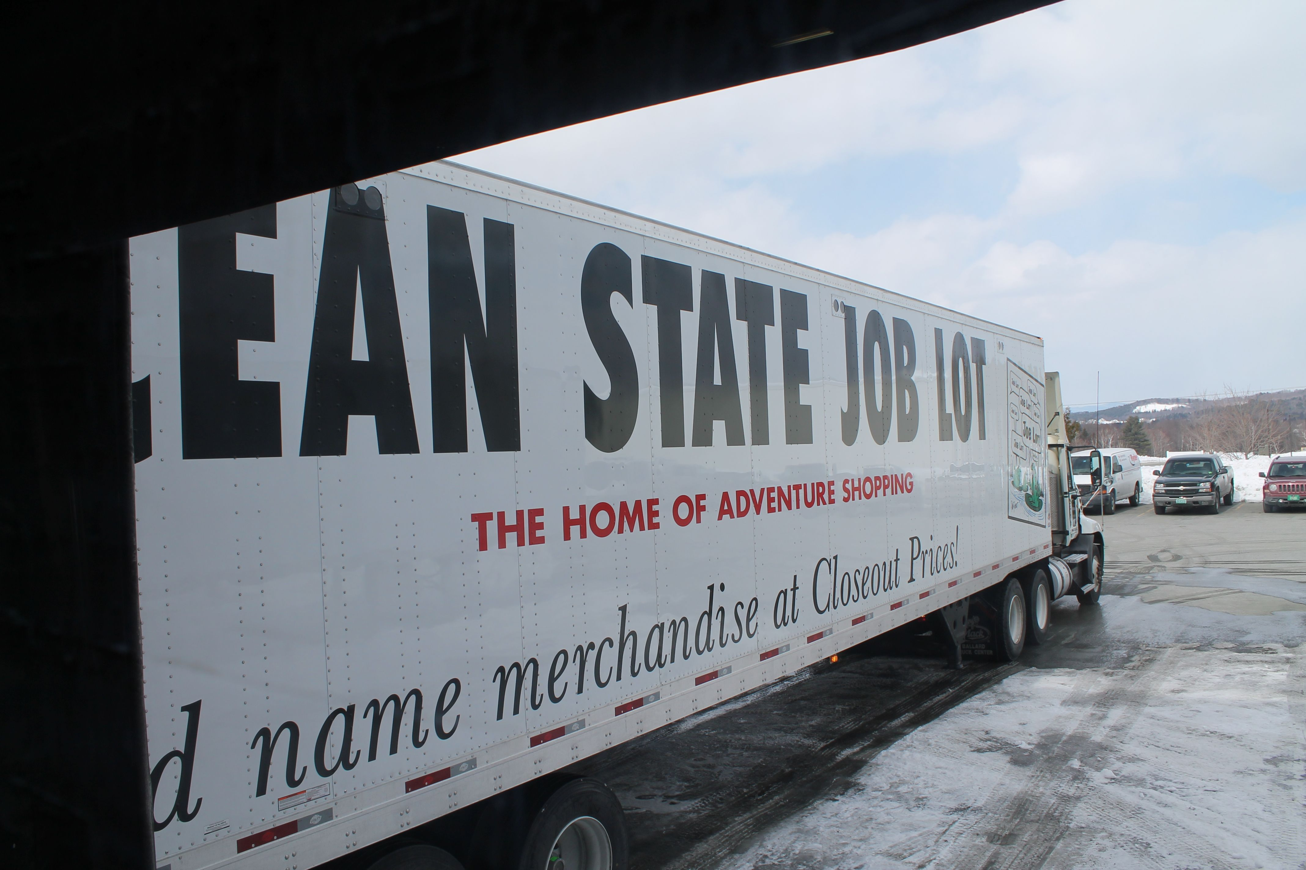 Ocean state job lot made a delivery of 18 pallets or