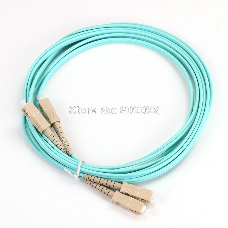3M SC-SC DUPLEX Multimode 10 GIGABIT 50/125 MULTIMODE FIBER OPTIC CABLE OM3 PATCH CORD Jumper Cable