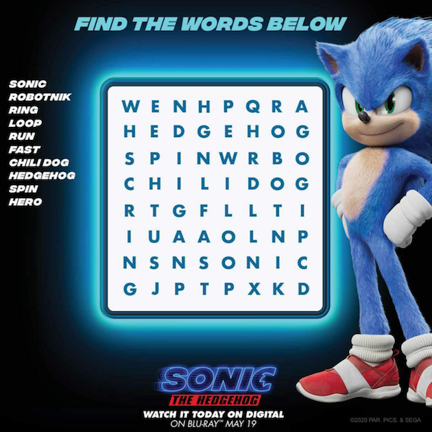 Sonic The Hedgehog Printables And Activity Pages Hedgehog Movie Sonic The Hedgehog Sonic