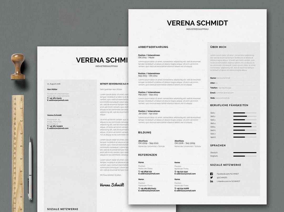 Bewerbungsvorlage - Mrs. Schmidt #bewerben #karriere #kreativ ...