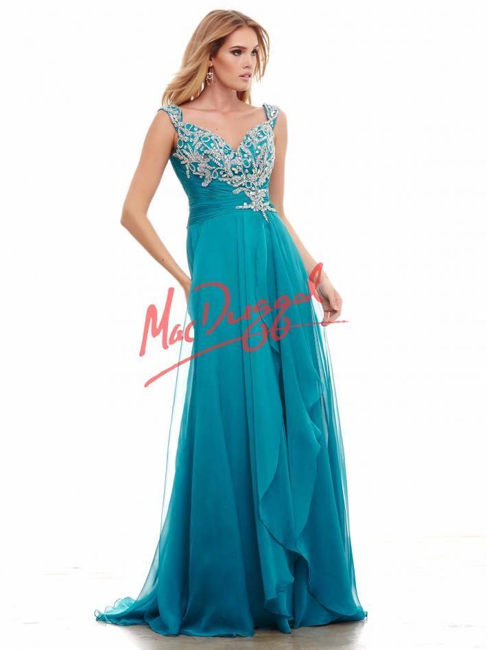 660e8b345a Peacock Blue Prom Dress