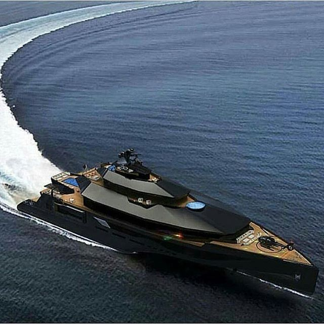 """Blacked Out Mega Yacht """"Calibre""""!⚫ Would You Want A"""