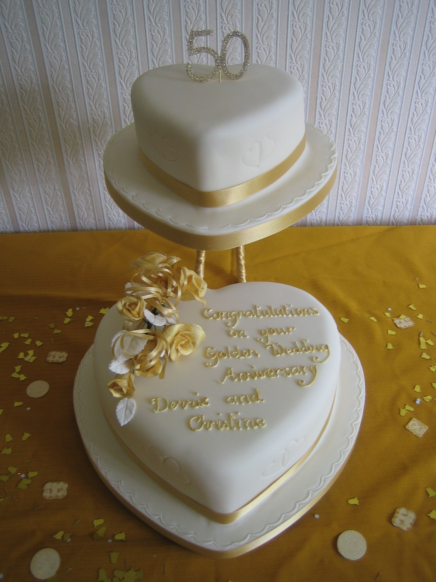 Heart Shaped Wedding Anniversary Cakes 50th Anniversary Cakes