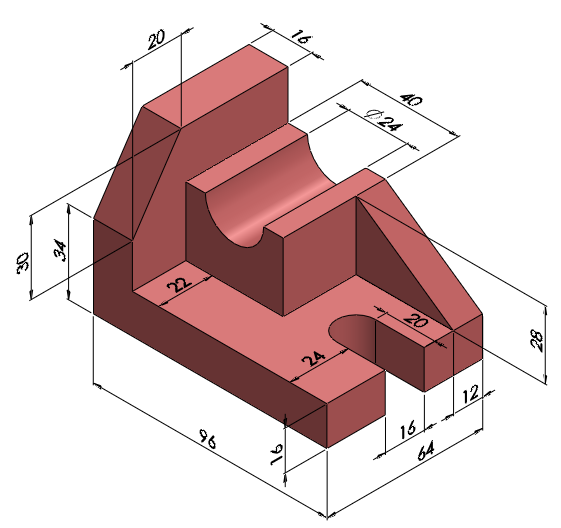 01 Shaft Support Solidworks Exercises Graphics