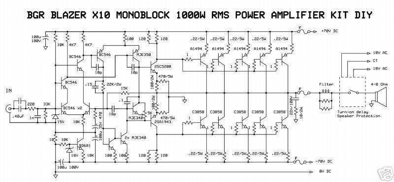 1000W Monoblock Power Amplifier   Power amplifiers ...