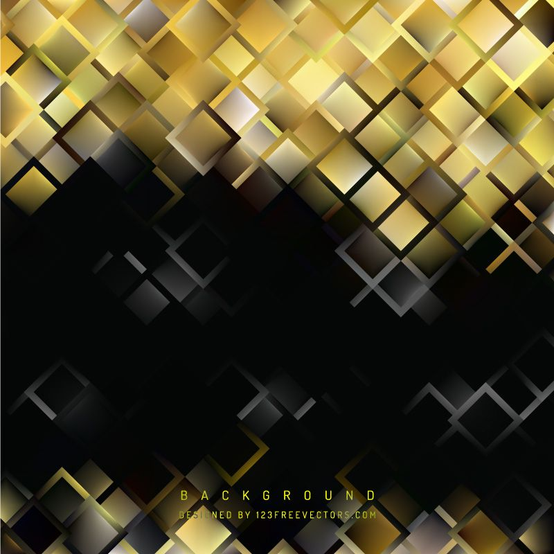 Black gold square background template background templates adobe illustrator black gold square background template maxwellsz