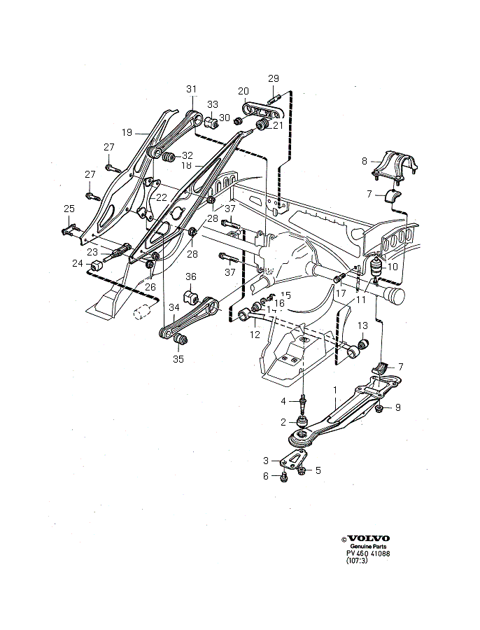 rear suspension diagrams and parts cars cars diagram Volvo Cars 2014 rear suspension diagrams and parts