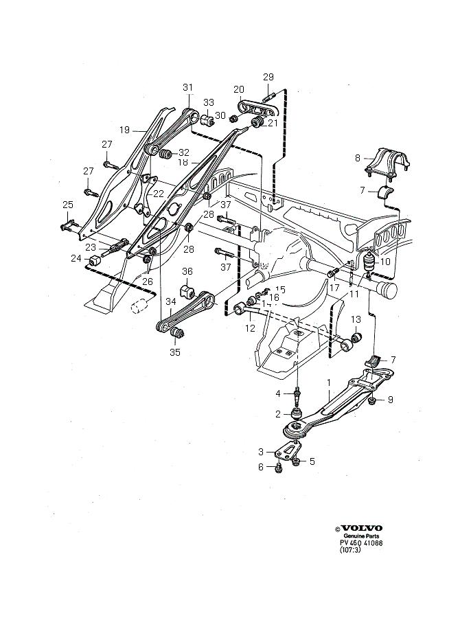 Rear Suspension Diagrams And Parts