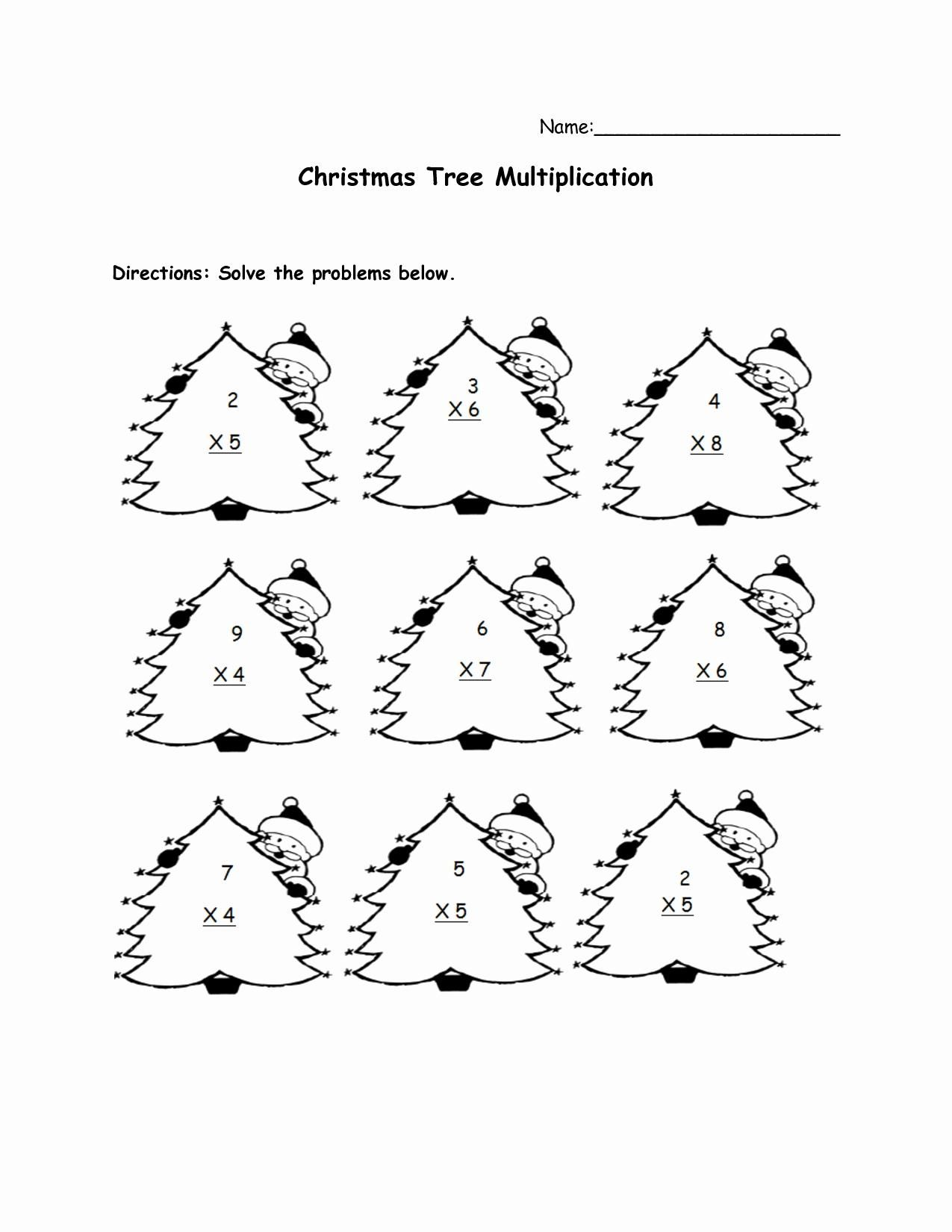 Free Printable Christmas Math Worksheets For Second Grade