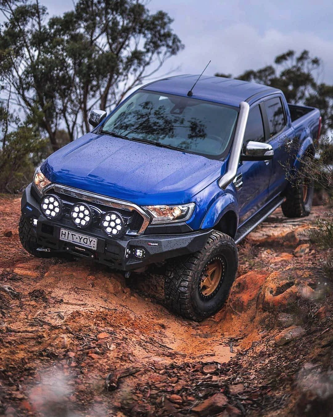 The Off Road Beast Ford Ranger Equipped With Rival Aluminum Bumper Our Bumpers Are Legal For Public Roads I Ford Ranger 4x4 Ford Ranger Ford Ranger Raptor