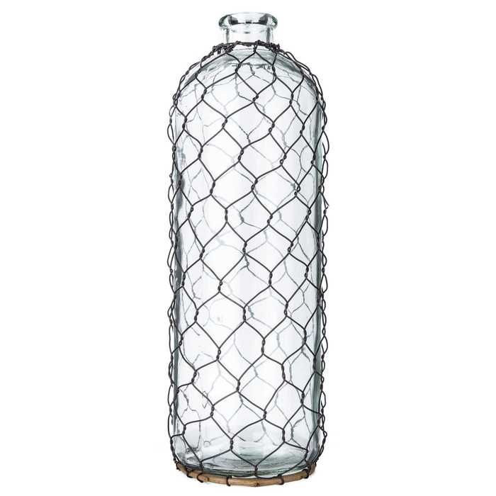 Clear Glass Bottle with Chicken Wire | Future bedroom/bathroom ideas ...