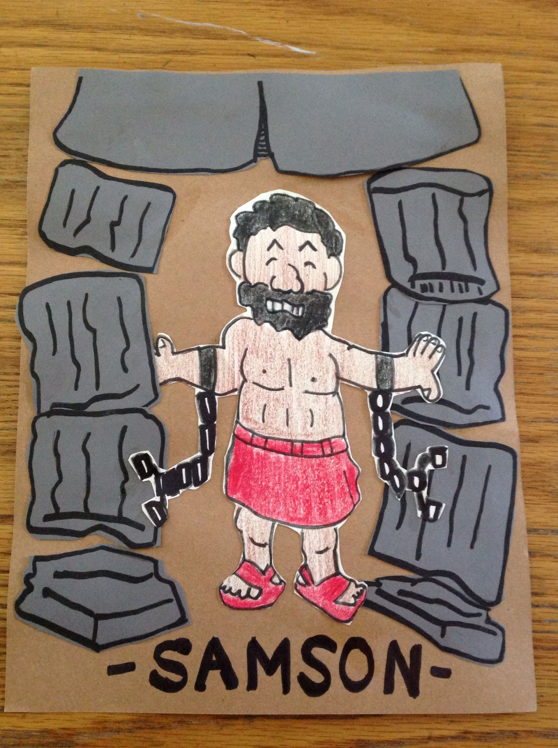samson bible craft by lety awana cubbies crafts activities