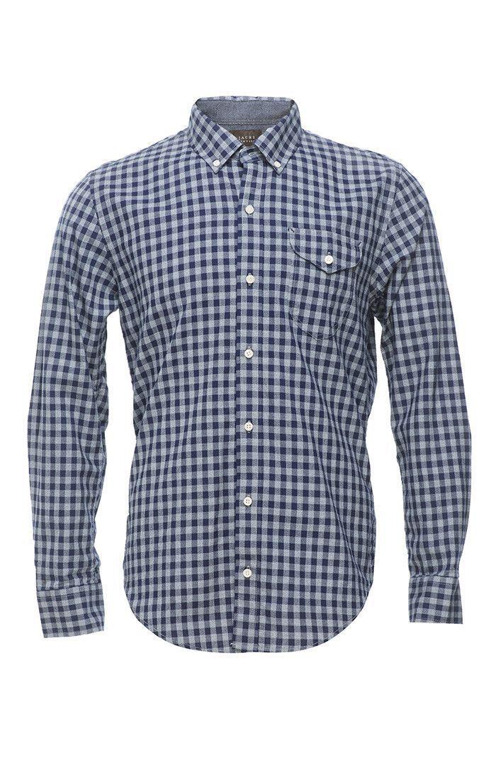 Jaspe Gingham Shirt - Blue