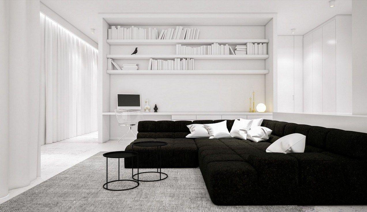 40 Black And White Stylish Living Room Ideas Homedsn In