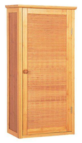 Bambus Schrank Badezimmerschrank mit einer Tür Badezimmer Möbel ... | {Badschrank bambus 59}