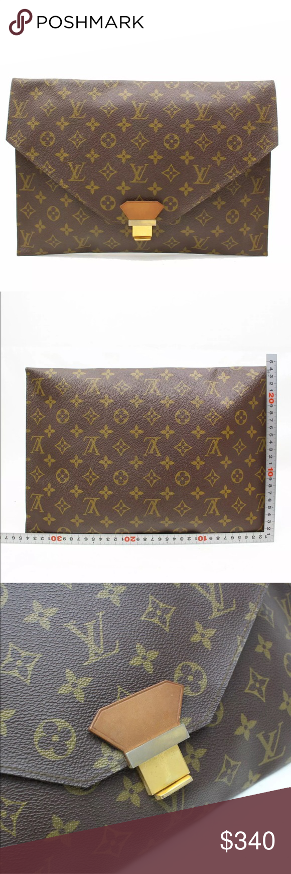 Authentic Louis Vuitton Pochette Envelope Clutch Louis Vuitton Pochette Authentic Louis Vuitton Louis Vuitton