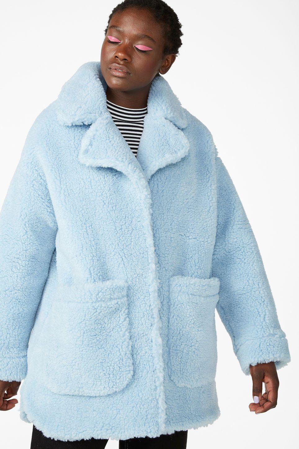ce5c2dea64f2 Oversized faux shearling coat - Pale sky blue - Coats & Jackets in ...