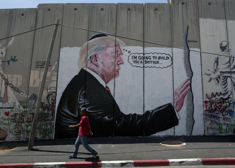 Donald Trump   West Bank Wall   Palestinian Christians