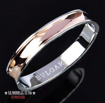 bvlgari anish kapoor bracelet in 18kt pink gold and steel for men