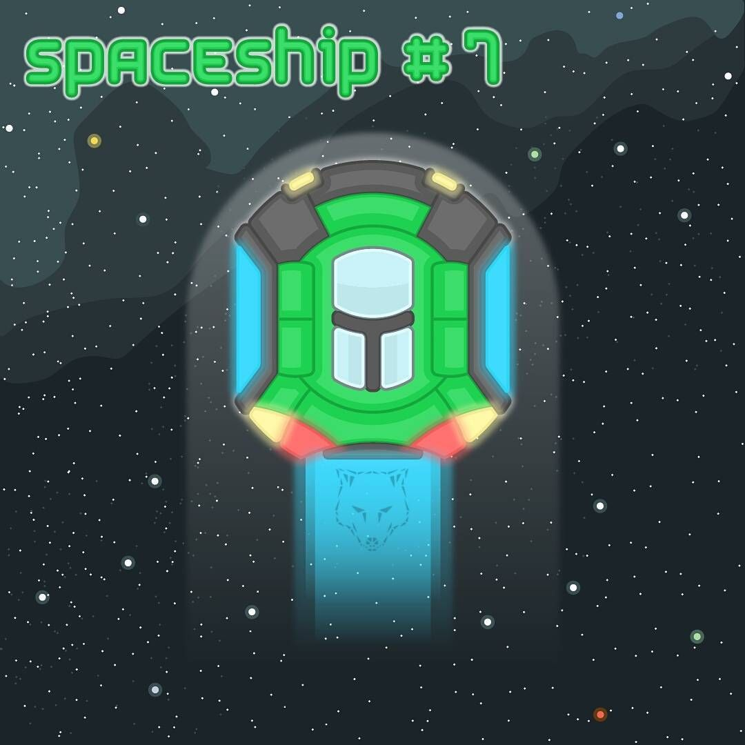 simank space spaceship 2d design outline game vehicle
