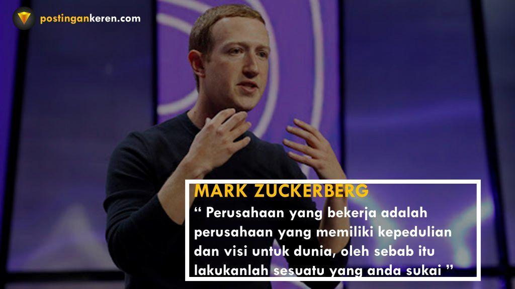 30 Kata Kata Mutiara Dari Mark Zuckerberg Pendiri Facebook Sepositif
