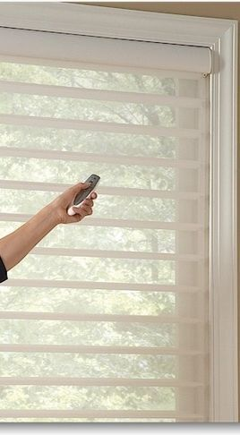 Hunter Douglas Silhouette Shades I Would Love To Have These In My Entire House And They Re Electric Too Blinds Hunter Douglas Silhouette Shades Blinds