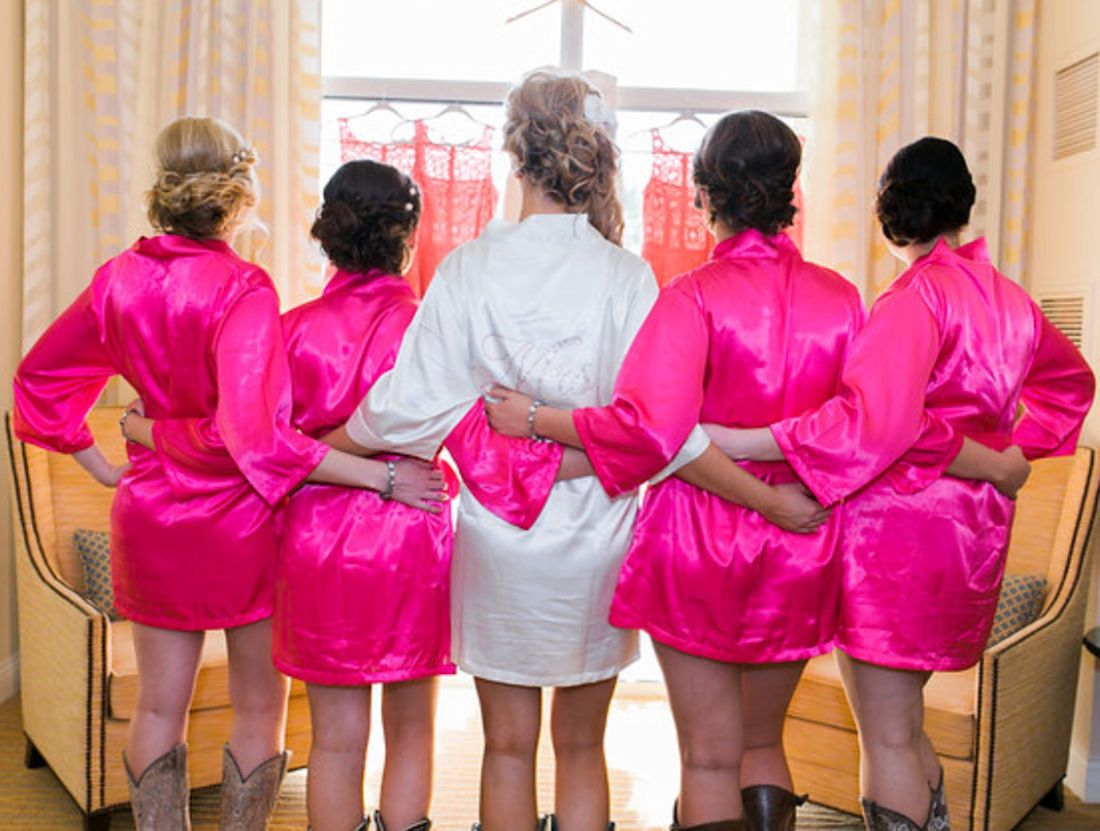 Personalized Wedding Robes Embroidered Advantagebridal