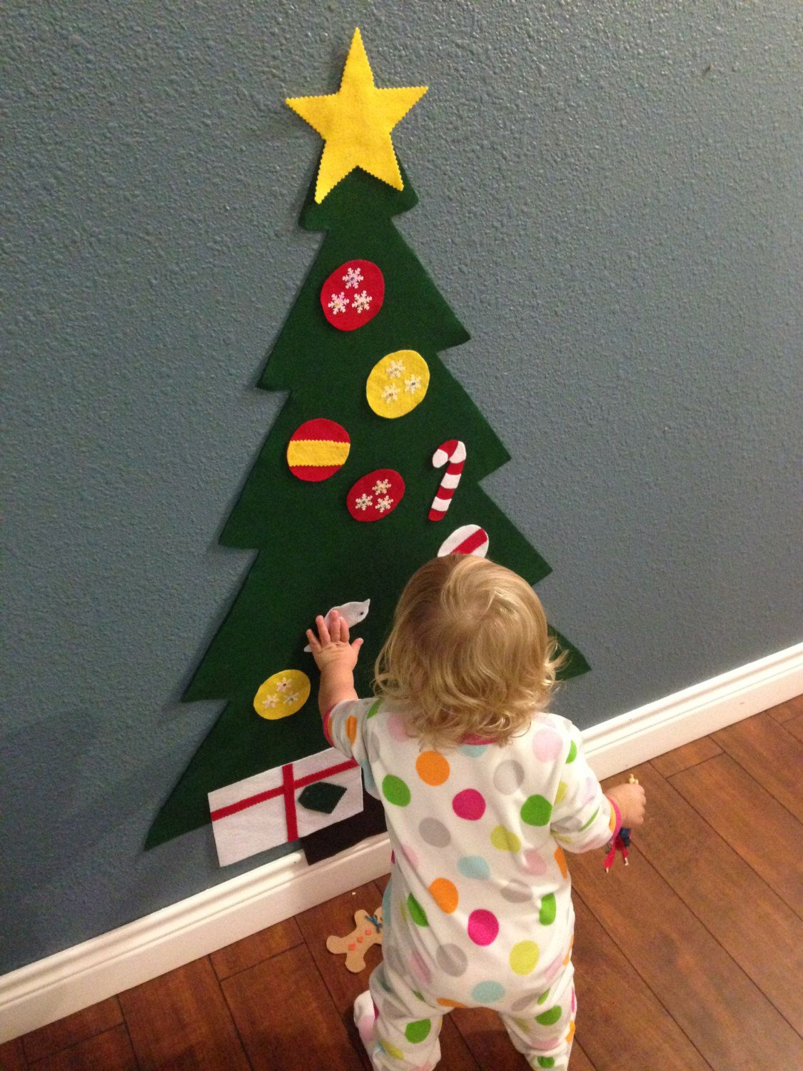felt christmas tree holiday gift for toddlers kids felt christmas tree creative play felt. Black Bedroom Furniture Sets. Home Design Ideas