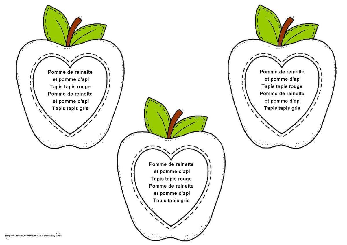 Pomme De Reinette Et Pomme D Api Pomme Comptines Et
