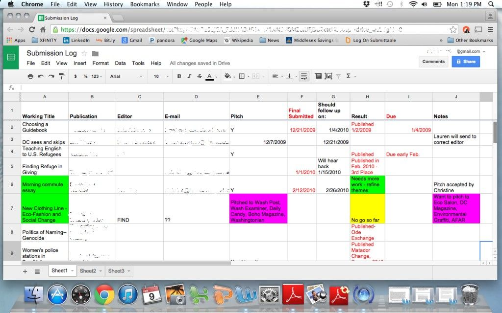 Track Your Pitches Use This Spreadsheet to Land More Online Writing