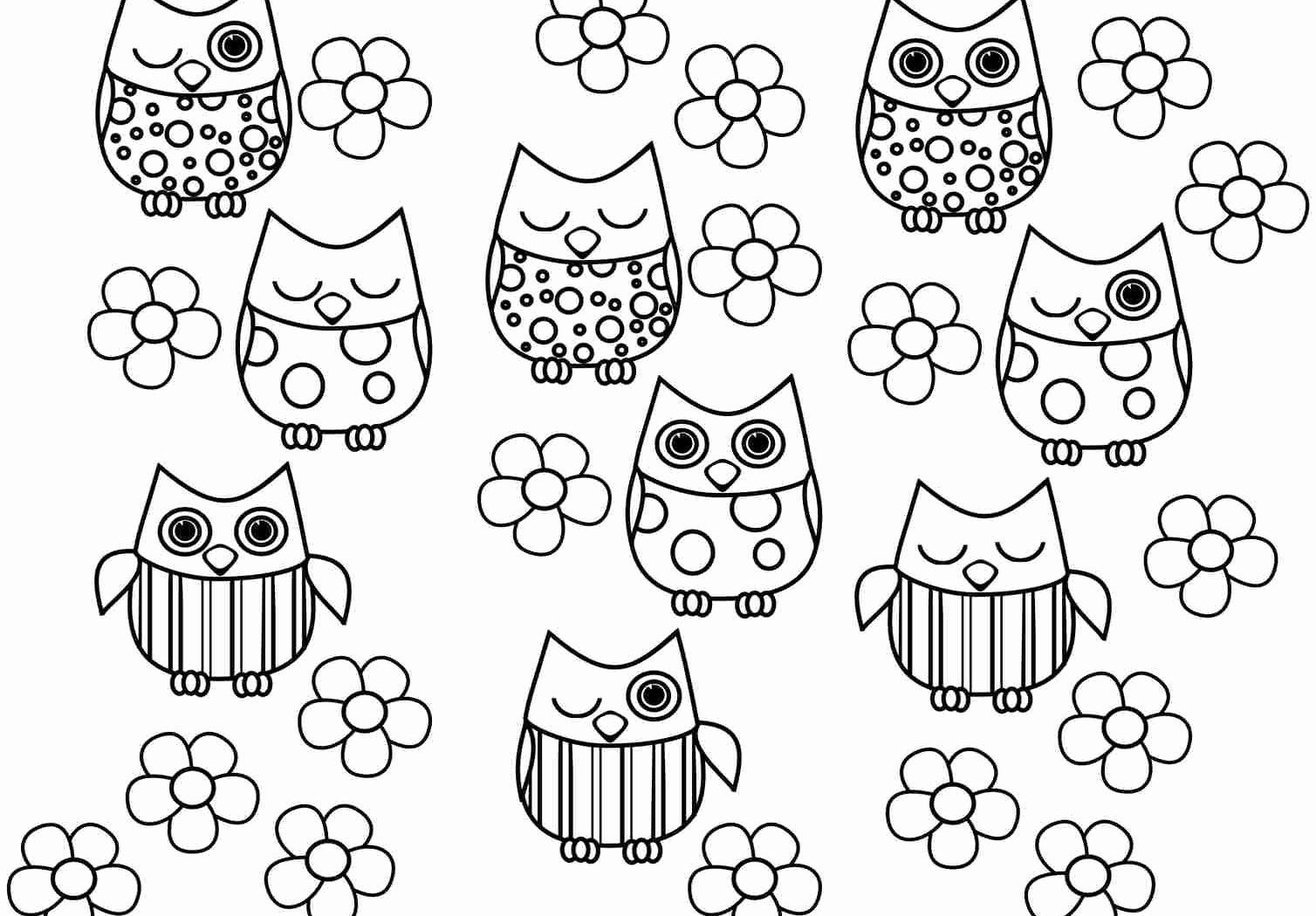 Coloring Pages Animals And Flowers New 25 Popular White Owl Vase Owl Coloring Pages Coloring Pages For Girls Printable Coloring Pages