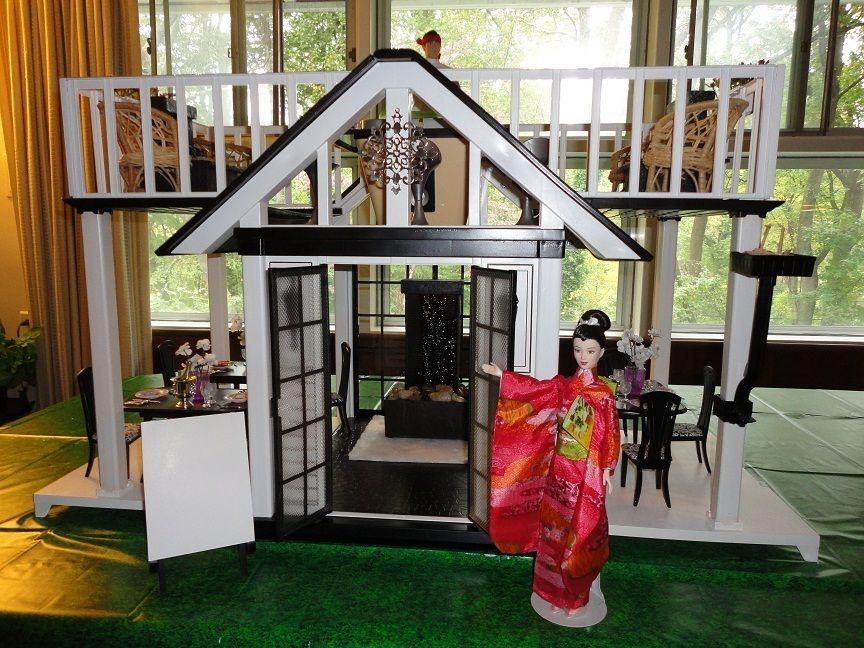 ooak japanese restaurant rooftop sushi bar barbie dream house furniture deluxe barbie houses. Black Bedroom Furniture Sets. Home Design Ideas