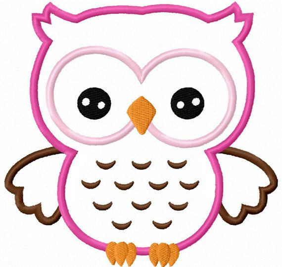 Owl Applique Machine Embroidery Design NO:0015 | Applikationen, Eule ...