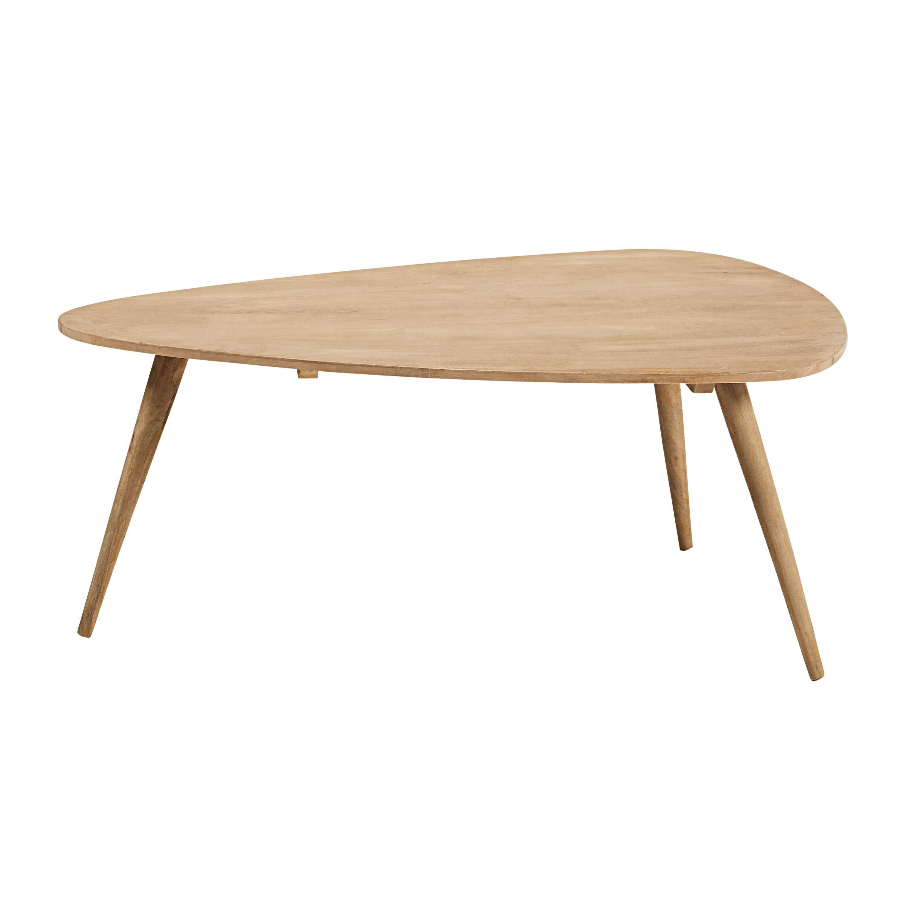 Table basse vintage en manguier massif 120x85 - Table basse en manguier ...