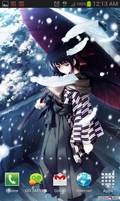 Anime Warrior in Snow Live Wallpaper Tap to see more