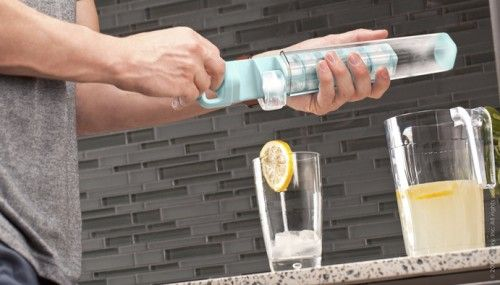The cube tube. Seems much more functional than an ice cube tray