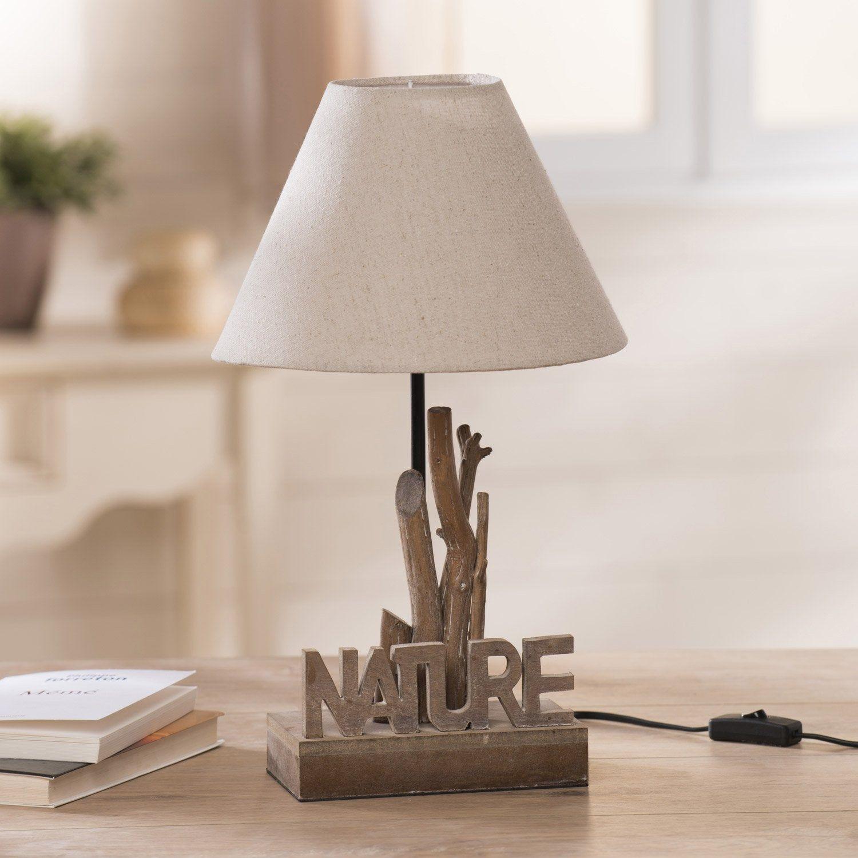 Lampe E27 Nature Seynave Tissu écru 60 W En 2019 Lampe