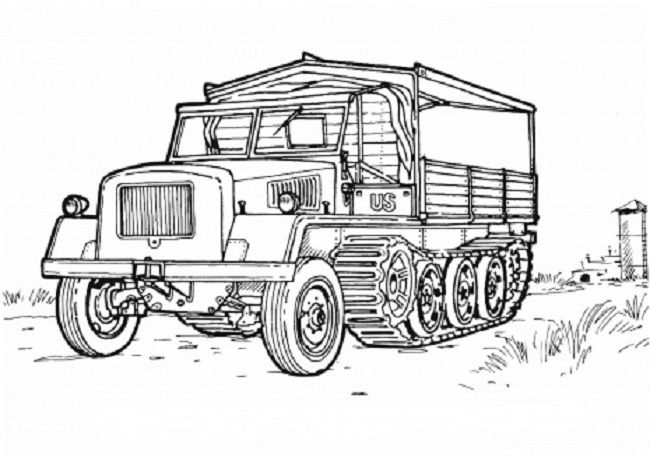 Army Vehicles Coloring Pages Cars Coloring Pages Truck Coloring