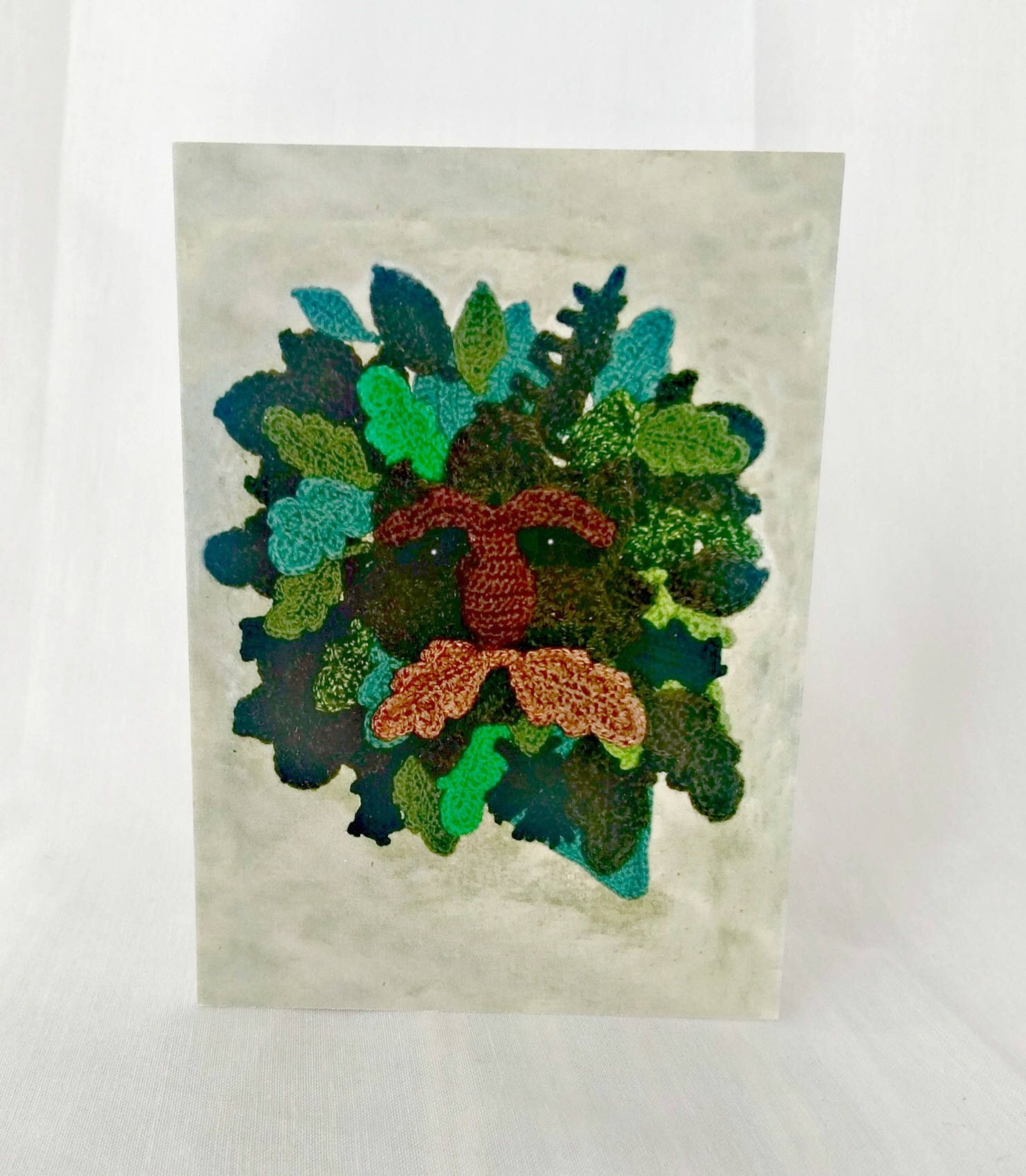 Green man greetings card crochet card pagan wiccan new age green man greetings card crochet card pagan wiccan new age card by kristyandbryce Image collections