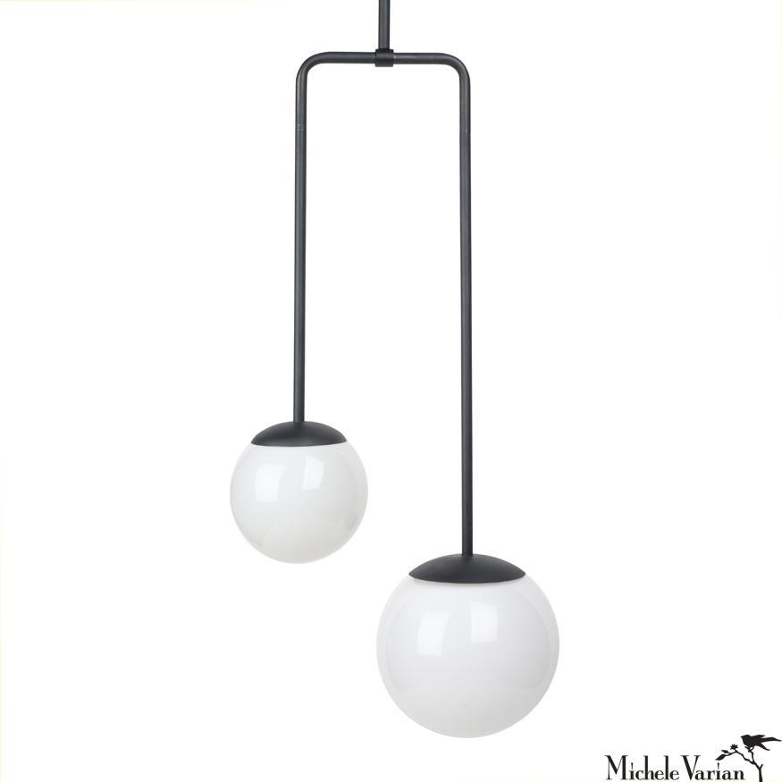 Black Double Circuit Globe Pendant Light In 2020 Globe Pendant Light Globe Light Fixture Black Globe Pendant Light