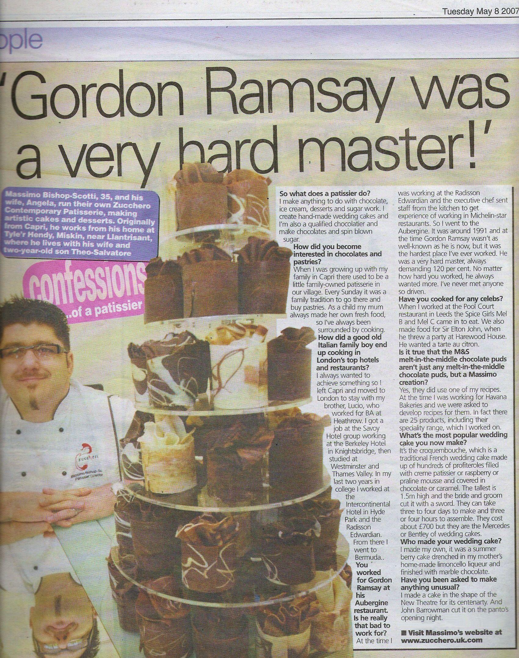 Confession of a patissier chocolatier gordon ramsay