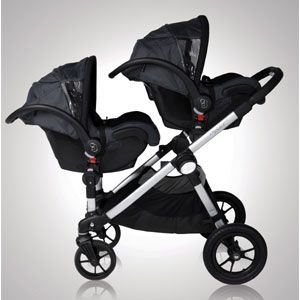 Baby Jogger City Select Stroller For Infants If Nicole Has Twins In Car Seats And Damien On Glider Board