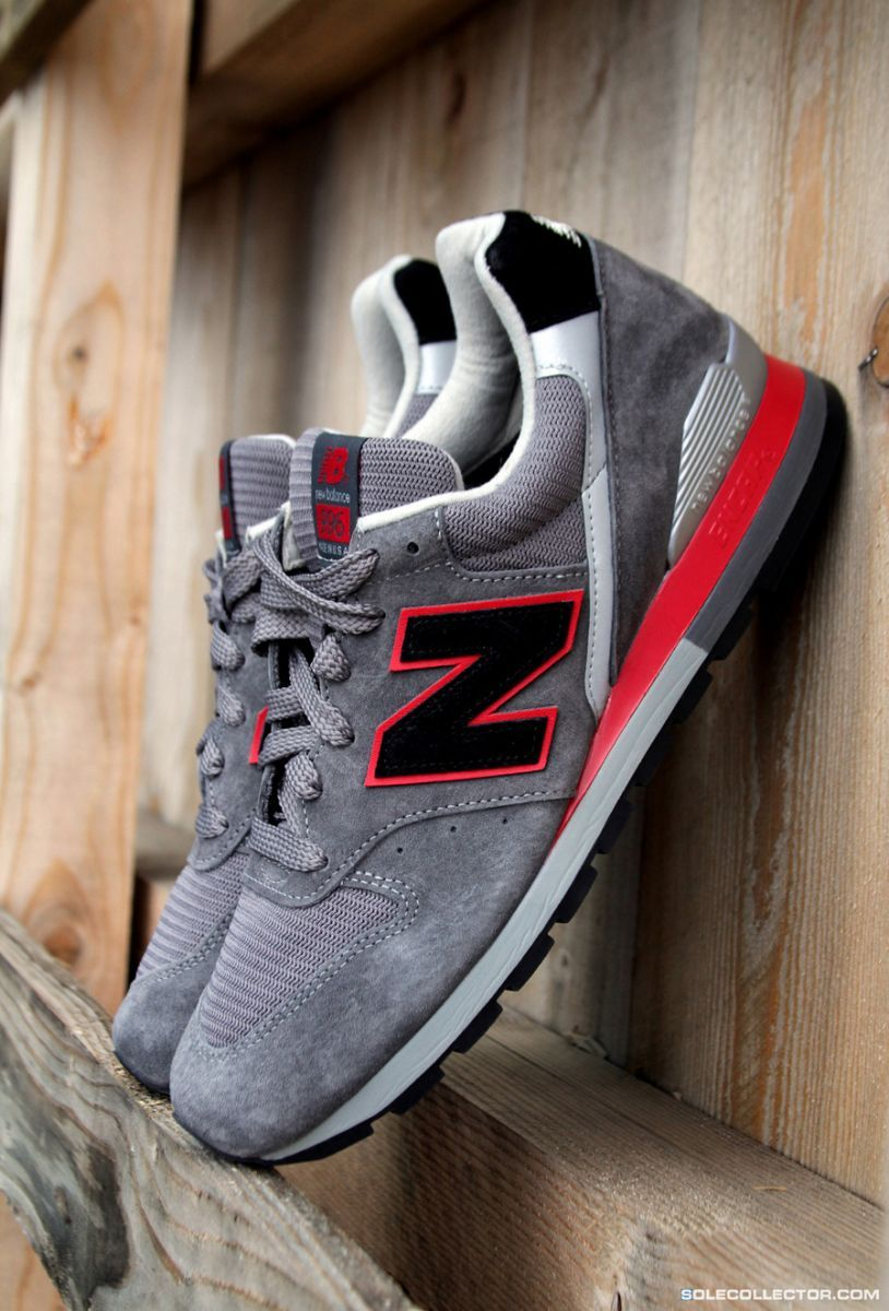 new balance 996 grey black red