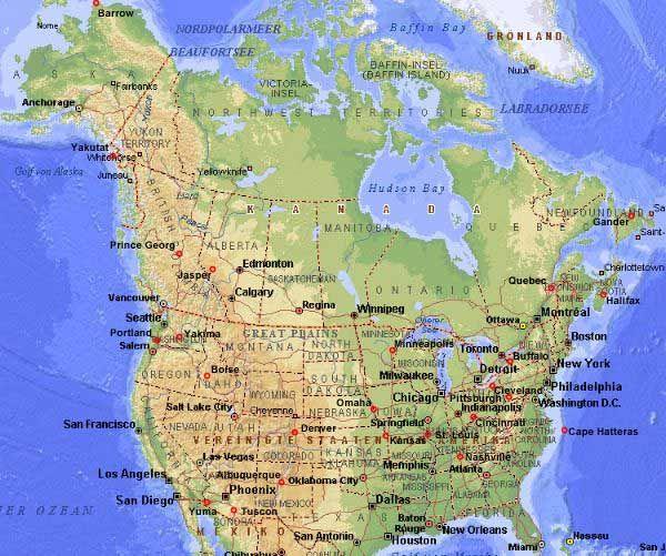 Nordamerika Stadte