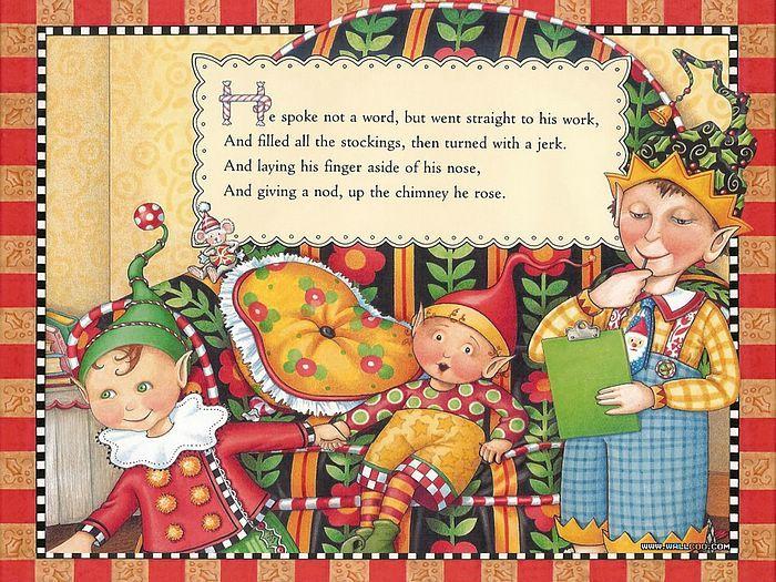 обои Ночь перед Рождеством иллюстрация - Рождественский эльф ...
