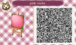 Goes With Pink Brick Path tile #10 ~ pink rocks tile (Last pc. )