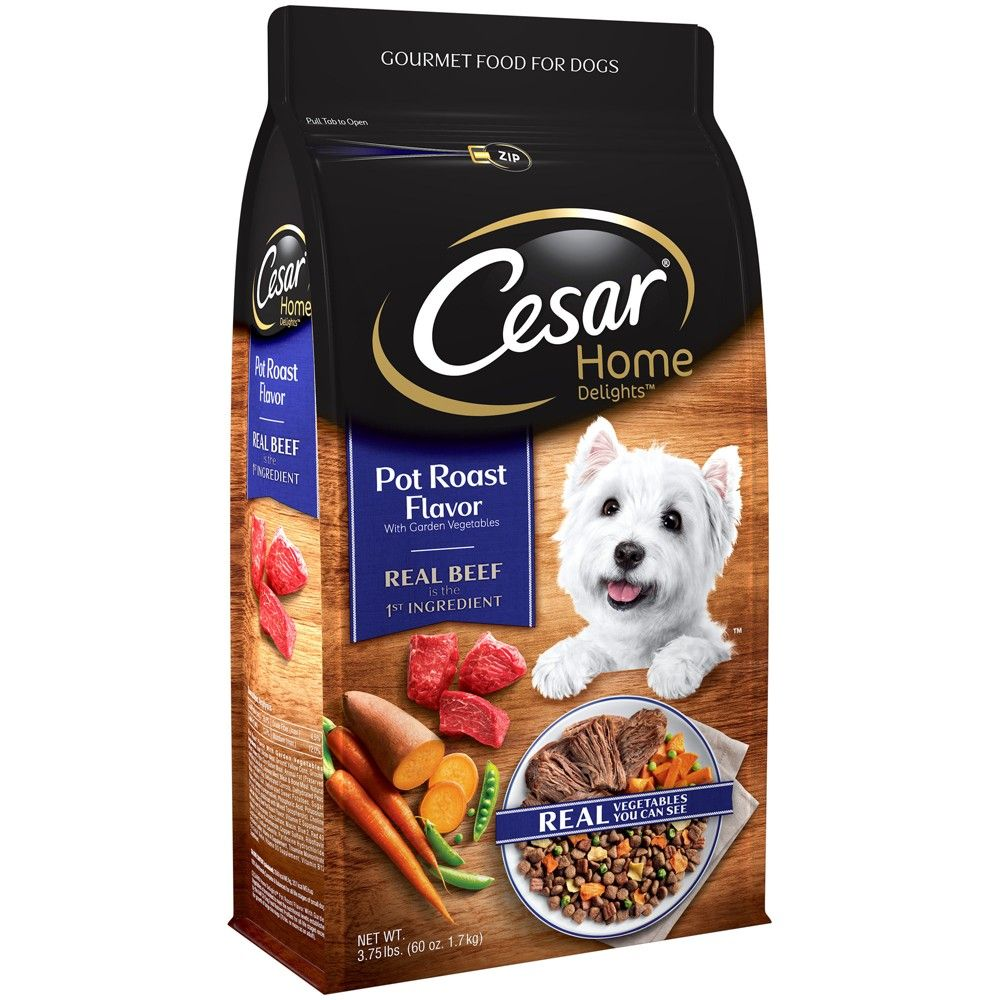 Cesar home delights dry pot roast with garden vegetables