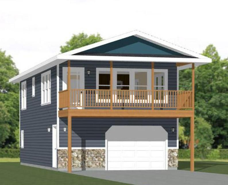 20x40 House 2 Bedroom 1 5 Bath 859 Sq Ft Pdf Floor Plan Instant Download Model 7q In 2020 Carriage House Plans Garage Apartment Floor Plans Garage Apartment Plans
